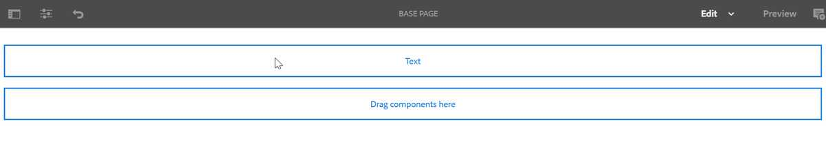 AEM Text Component Added