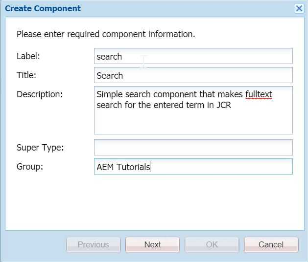 AEM Search Component